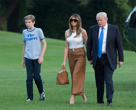 Melania and Barron Trump Move Into the White House