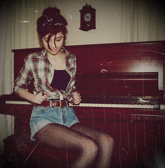 Music is life, life is music. - Levis shorts, Weeken, Tasha B