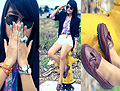 Summer Turquoise  - Colorful plaid, H&M, Double layered bracelet, Weeken, Blue and pink watches, Weeken, Bow ring, Forever21, Vaitors, Weeken, Vaga Bond Loafers, Weeken, Lai Serrano, Philippines