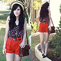 It's Summer in Texas Already  - Thrifted shorts, Weeken, Bags, Weeken, Bonnie Barton, China