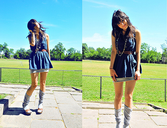 Somebody told me..!  - Dress, Topshop, Gray dress, H&M, Inez A, United Kingdom