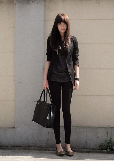 Black  -  leggings, Zara, Nin M, China