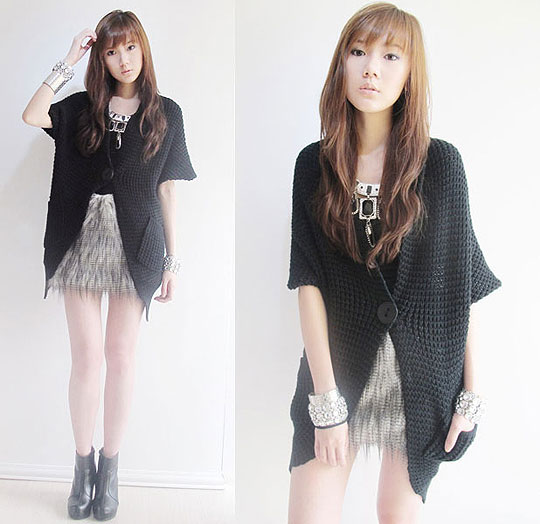Feathers  - Feather skirt, Weeken, Knit cardi, Weeken, Necklace, Weeken, Bangle, Forever21, Bangle, H&M, Camille Co, Philippines