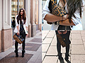 In milan , Suede ankle boots, Givenchy, White blazer, Zara, Leather trousers, Weeken, Leopard clutch, ASOS, Candy, Netherlands