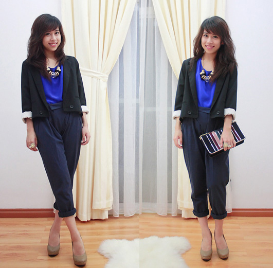 I'll see you tonight <3  - Jacket, Weeken, Shirt, Weeken, Bag, Weeken, Linda Tran, Vietnam