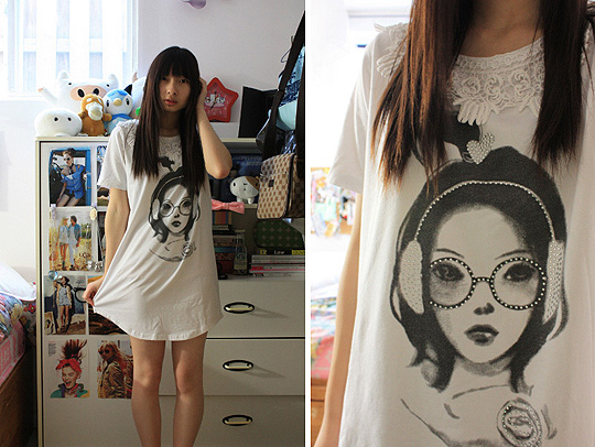 Simple girl  - Black&white girl shirt, Weeken, Kar-Yan C, Canada