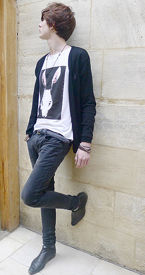 BLIND  - Chapel club t - shirt, Weeken, Black Skinny Jeans, Topman, BLUE BELT, H&M, BLACK CHELSEA BOOTS, Weeken, Black skinny cardigan,, Weeken, Oscar Robertson, United States