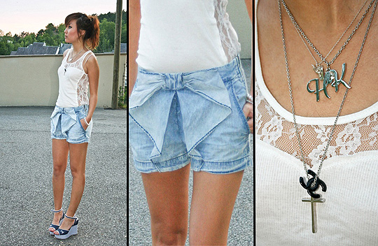 Chanel on the lace  - Shirt, Weeken, Shorts, HaiLanHome, Shoes, Mark Fairwhale, Yoshino Mia, France