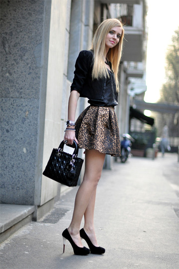Leopard skirt and Chiara Ferragni shoes - Bag, Weeken, Skirt, Weeken, Shoes, Weeken, Chiara Ferragni, Italy