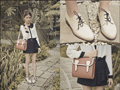 Shoes and Bag, amaazing. - High-waisted pleated shorts with ribbon, Weeken, Peter pan collar sheer top, Weeken, Tricia Gosingtian, Philippines