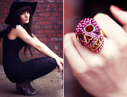 Feathers & Skulls  - Skull ring, Weeken, Ther dress, Topshop, Anouska Proetta Brandon, United Kingdom