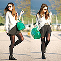 A touch of candy bag , Candy bag, Weeken, Sweater, Weeken, Skirt, Bershka, Sunglasses, Weeken, Alexandra Per, Spain