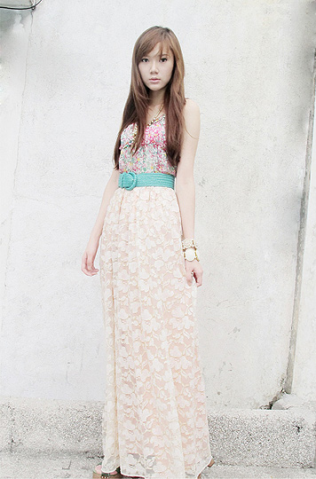 Lace is Love  - Dress worn as top, Weeken,  lace maxi skirt, Weeken,  belt, H&M, Bracelet, Forever21, Bracelet, H&M, Camille Co, Philippines