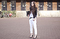 Black&white , White jeans, Weeken, Leather jacket, Vero Moda, Pointed toe heels, Zara, Candy, Netherlands