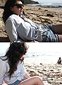 At the beach, F21 shorts, Forever21, Vintage dress as shirt, Weeken, Ebay glasses, Weeken, Jade Elise, United States