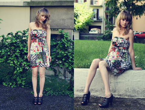 Somebody drown, somebody drown.  - Floral Dress, Forever21, Heels, H&M, Katrina J, Switzerland