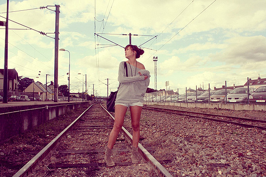 Basics grey & jeans  - Long sleeves, Weeken, Yoshino Mia, France
