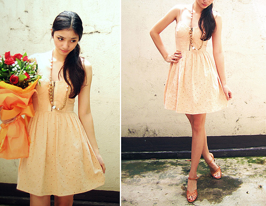 Peachy Keen  - Zip-up bustier dress, Topshop, Heels, Weeken, Aileen Belmonte, Malaysia