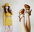 Sunset Patterns , Yellow Dress, Weeken, Color block heels, Weeken, Kryz Uy, Philippines