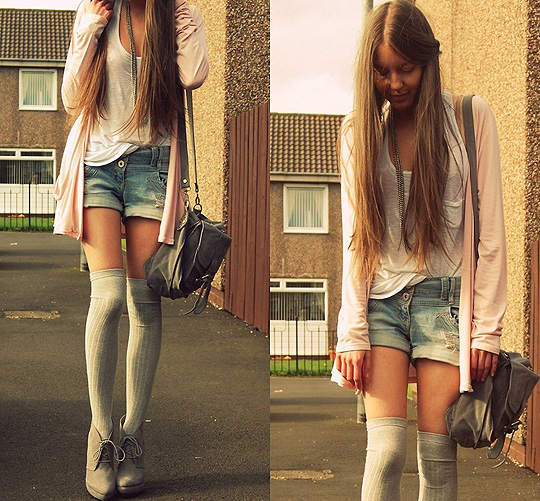 Where you might be  - Cardigan, New Look,  Shorts, New Look, Socks, Topshop, Lynsay P, United Kingdom