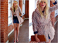 Winter showers bring spring flowers!  - Jacket, Weeken, Clutch, Weeken, Cat sweater, Weeken, Coury Combs, United States