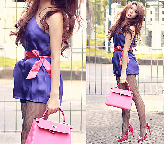 Every little thing  - Mini dress, Weeken, Tights, Weeken, Studded shoes, Weeken, Kelly rose tyrien, ELLE, Anastasia Siantar, Indonesia