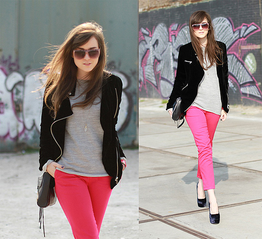 THINGS CHANGE  - VELVET JACKET, Weeken, PINK PANTS, Zara, Andy T, Mexico