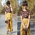 Honey Don't, Cat eyes, Weeken, Velvet top, Weeken, Mustard cameo skirt, Weeken, Boots, Weeken, Hexagon bag, Topshop, Autilia Antonucci, Australia