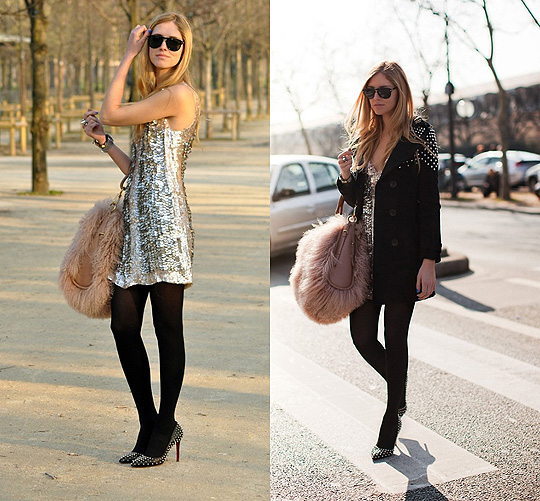 Last winter outfit, I still love it  - Stian Dior bag, Dior, Philipp Plein studded jacket, Weeken, Amen dress, Weeken, Chiara Ferragni, Italy