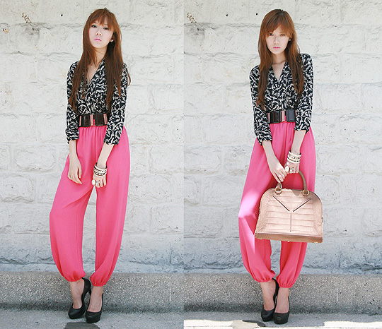 Hot Pink  - To know what brands I'm wearing, Weeken, Camille Co, Philippines