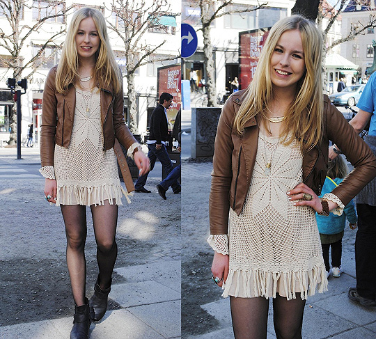 CROCHET DRESS :)  - Dress, Topshop, Frida Johnson, Sweden