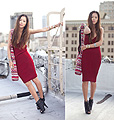 Bloody Red Fuchsia.. Just Different Shades of Perception , Cross Back Knit Dress, American Apparel, Tribal Sack, Weeken, Aimee Song, United States