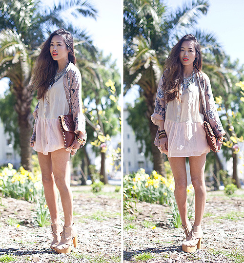 Scavenger Hunt  -  Bamboo Sky Dress, Weeken, Jeffrey Campbell Heels,, Weeken, Aimee Song, United States