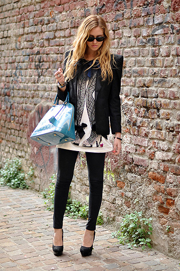 Lanvin and Louis Vuitton  - H&M + Lanvin tshirt, H&M, Louis Vuitton alma vernis bag, Weeken, Chiara Ferragni, Italy