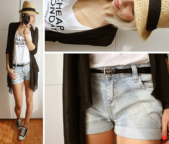 CHILLING IN THE GARDEN.  - Hat, H&M, Shorts, Zara, Sheered 'cardi', Weeken, Tanktop, Weeken, Sietske Lamers, Netherlands