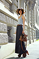 25042011 , Striped tank top, American Apparel, Belt , American Apparel, Pleated maxi skirt, Zara, Platform lace up boots, Weeken, Golestaneh, Germany