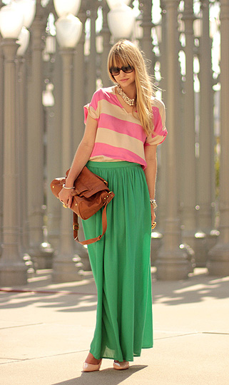 Dressed like candy  - Zara skirt, Zara, YSL sunglasses,, YSL, A litter pink, Weeken, Liz Sampson, United States