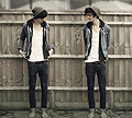 Voice Memo  - Cowboy jacket, Weeken, White vest, Weeken, Jean, Weeken, SNEAKERS , Weeken, Mark Collisa, United Kingdom