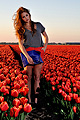 Colourful Fields  - Orange short, Zara, Clutch, Weeken, Lara Rose Roskam, Netherlands