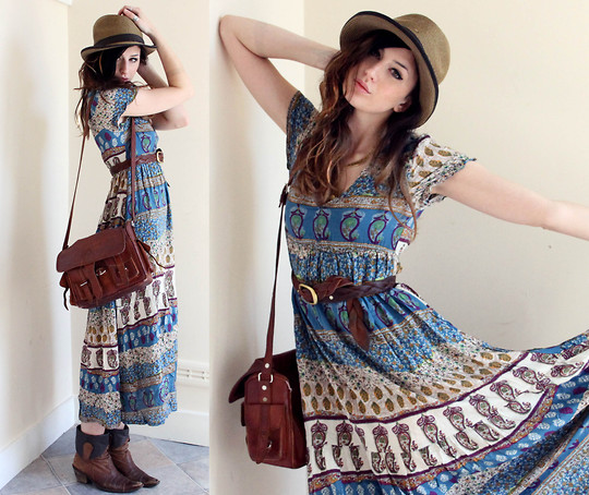 Holy Dances - Folk Dress, Weeken, Vintage belt, Weeken, Bag, Weeken, Constance Victoria, United States
