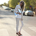 White light - fashionsquad  -  H&M fashion against aids Bag, H&M, Blazer, Zara, Ants, American Apparel,  heels, Zara, Carolina Engman, Sweden