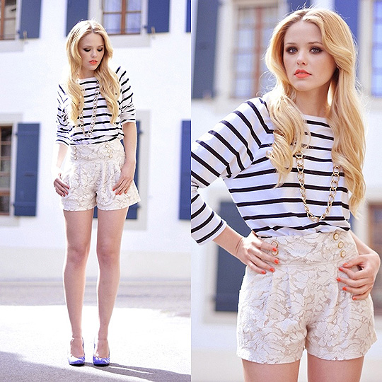 La Marinière - Kayture blogspot  - Long-sleeved clothes, Weeken, SHORTS , Weeken, Shoes, Weeken, Kristina Bazan, Switzerland