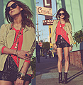 Motel Capri  - Jackets, Weeken,  shoes, Steve Madden,  shorts, Weeken, Necklaces, Weeken, Shirt, Weeken, Laura Ellner, United States
