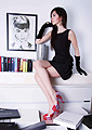 Taste of Life Magazine  - Metalic Pink&Red heels, Weeken, Black dress, Fendi, Doina Ciobanu, Canada