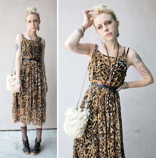 Leopard Dress, Leopard Socks  - Bag, Weeken, Dress, Weeken, Shoes, Weeken, Jana Spaceman, Germany