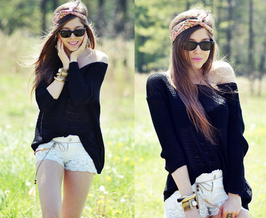 Kiss of sunshine  - Sunglasses, Weeken, Headband&shorts&sweater,, Weeken, Jewelry, Weeken, Kasia Gorol, Poland