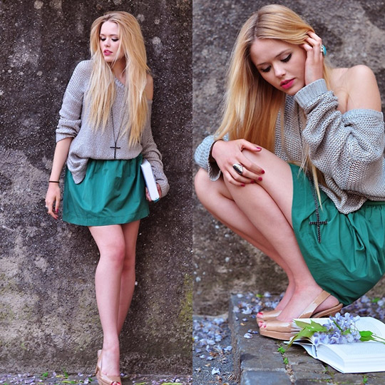 Fleurs de Lila Kayture blogspot - Knitwear, Weeken, Skirt, Zara, Shoes, Weeken, Kristina Bazan, Switzerland