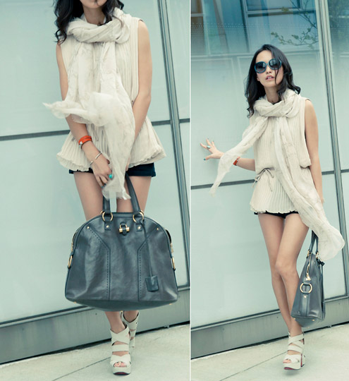 Come and fly with me  - Chiffon scarf, Club Monaco, Platform heels, Weeken, Sun J, United States