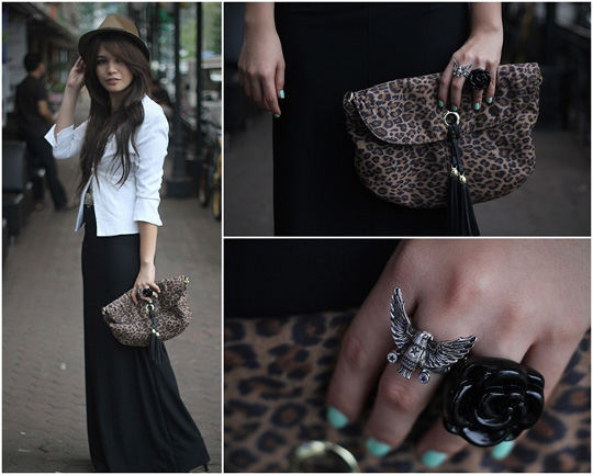 Wednesday Addams  - Black skirt, Weeken, Leopard bag, H&M, Ring, Weeken, Cheyser Pedregosa, Philippines