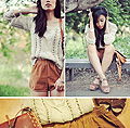 Summer layers  - Shorts, Weeken, Knit, Forever21, Leather sandals, Nine West, Jenny Ong, United States